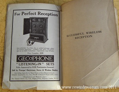 Successful Wireless Reception. 1926