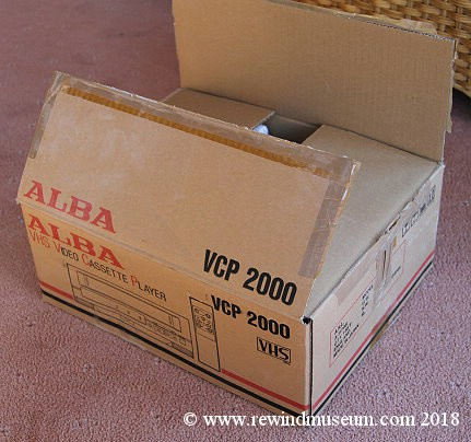 Alba VCP 2000 VHS playback only player.