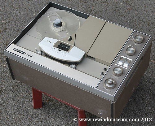 Ampex 1100 reel to reel audio tape recorder.