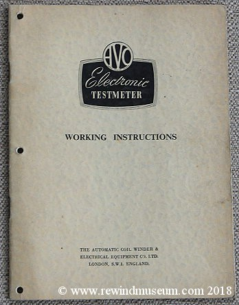 AVO type 4 valve multimeter manual.