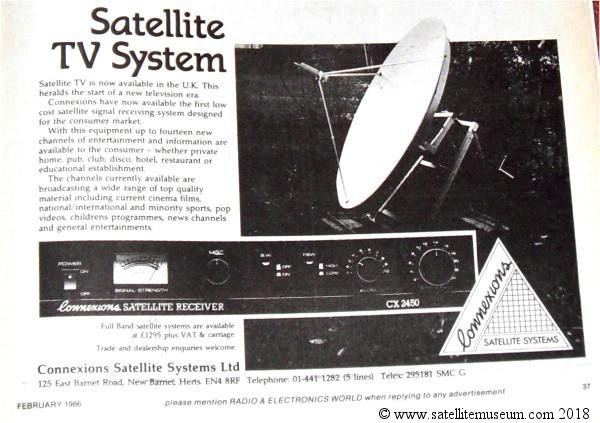 Museum of vintage satellite receivers  BSB squarial, SCT