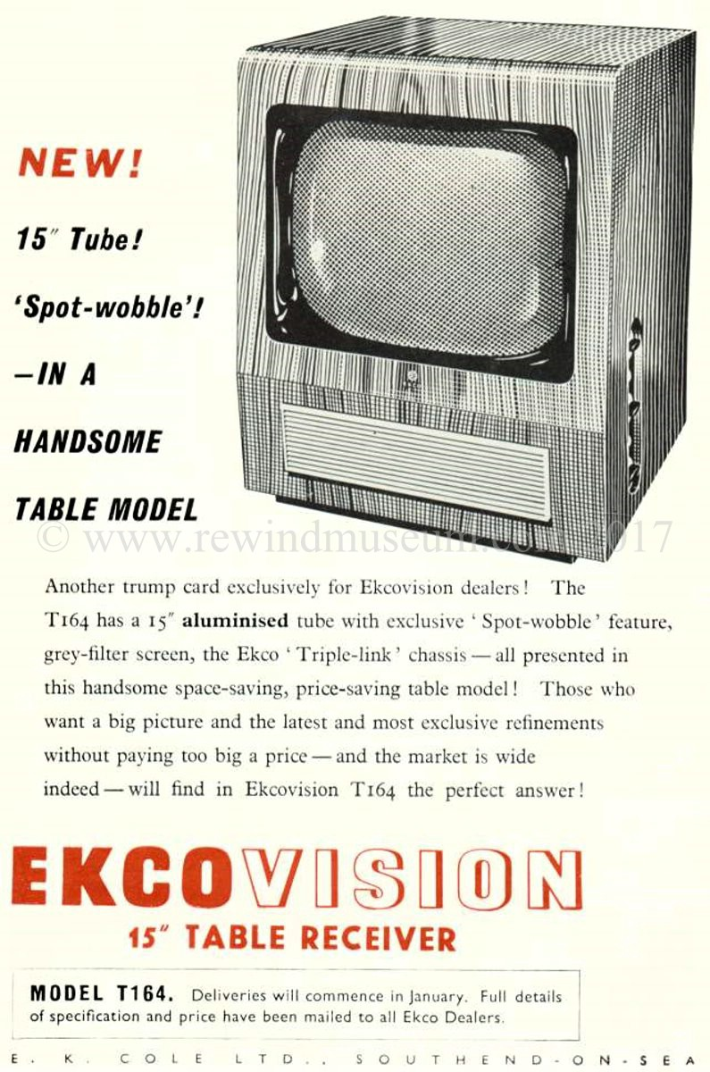 1951. Ekcovision Model T164 advert