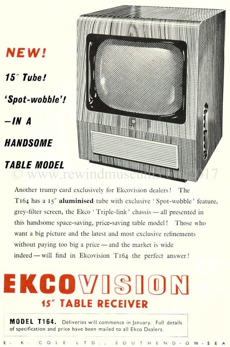 Rewind Museum  Vintage television museum  The 1948 Bush Model TV-12