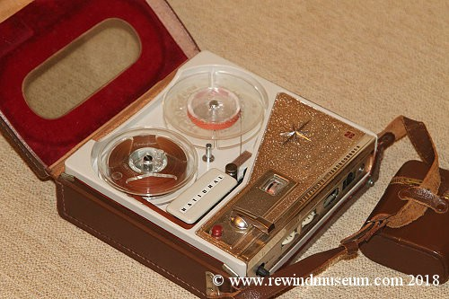 National rq-114 portable reel to reel recorder