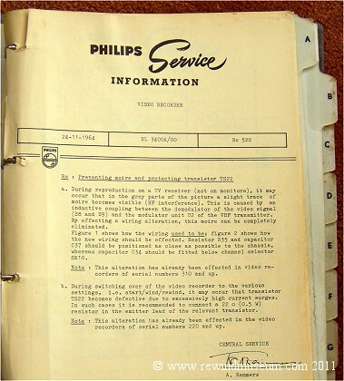 The Philips EL3400 service information 24th. Nov 1964.