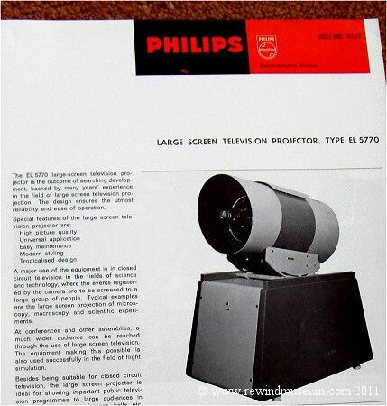 Philips Projection TV el5770.