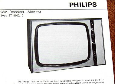 Philips black and white TV et9100.