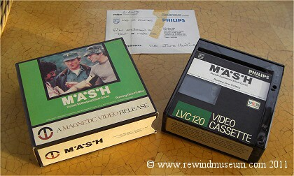 Philips LP pre-recorded tapes. Mash Video