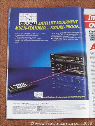 The Rochdale CR-1100E satellite receiver with AP100 positioner advert