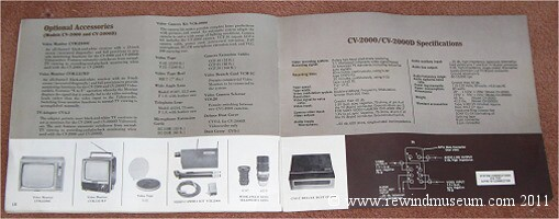 Sony CV-2000 and 2000D Manual