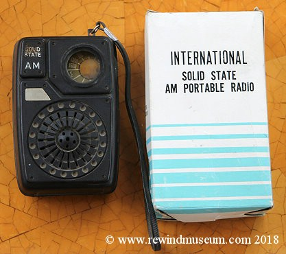 International Solid State AM Portable Radio.