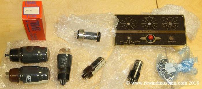 Spare valves for the Trix T.633B Amplifier