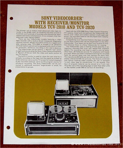 Sony Videocorder Advert